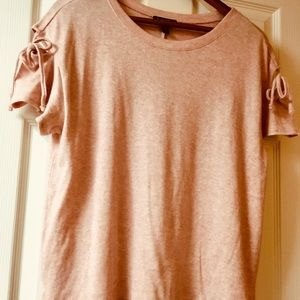 Jessica Simpson Semi Cold Shoulder Lt Pink Sweater